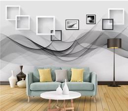 $enCountryForm.capitalKeyWord Australia - Modern minimalist beating curve art background wall painting modern wallpaper for living room