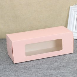 Digital bracket online shopping - Half Roll Cake Window Cookie Boxes Portable West Point Box Pure Color Baking Packing Case Covered Bright Film Bottom Bracket psb1