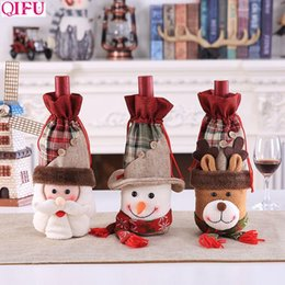 $enCountryForm.capitalKeyWord Australia - QIFU Santa Claus Snowman Wine Bottle Cover Christmas Decorations for Home Xmas Gift Holders Navidad 2019 Happy New Year 2020