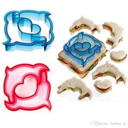 toast mold Canada - 10 Shape Dinosaur Dog Butterfly Star Car Shape Sandwich Bread Cutter Mold Cake Tools Cake Toast Moulds Sandwich Maker NEWEST fast