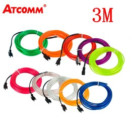 $enCountryForm.capitalKeyWord Australia - ATcomm 3 Meters Car Interior Lighting Auto LED Strip Garland EL Wire Rope Tube Line Flexible Neon Light Auto Decorative Lights