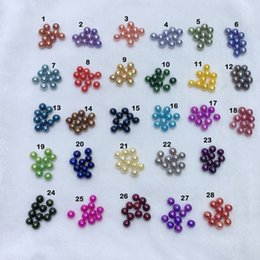 Loose Pearls Mix Australia - JNMM 20 Grains Loose Beads Dyed Mixed Color 10-12mm Round Shape Freshwater Edison Pearl with Good Quality for Jewelry(total 20 pearls)