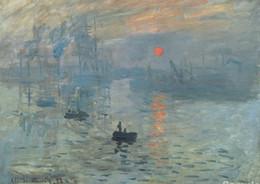 Impressions Canvas Print Australia - Impression Sunrise Claude Monet Art Silk Print Poster 24x36inch(60x90cm) 015