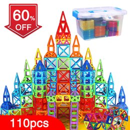 Block Toys Construction Australia - Bd 110pcs Blocks Magnetic Designer Building Construction Set Magnet Educational Toys For Children Kids Gift Q190530