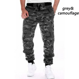camouflaged trousers UK - ZOGAA Hot Sale Men Spring Autumn Camouflage Pants Sweatpants Trousers Male Casual Fashion Slim Fit Large Size Pants Men Y19060601
