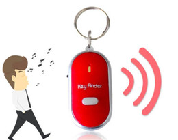 $enCountryForm.capitalKeyWord UK - New Creative Keychain Whistle Key Finder And Light For Children Just Whistle High Quality Never Lost Keys 4 Color