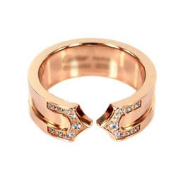 100% NUEVO acero titanio 316 Anillo de parejas Ancho 7 mm Tamaño: 5 6 7 8 9 10 11 Joyas de diseñador en venta