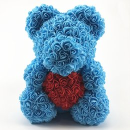 Valentine Gifts Teddy NZ - rose bear natural touch feature and wedding occasion high quality valentine gift teddy soap rose bear