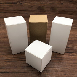 bottle boxes packaging Canada - kraft paper boxes for packaging gift package,white present box for jars bottle candy candle promotional gifts customized