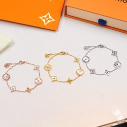 Luxury Designer Jewelry Bracciali Donna New Fashion Oro rosa Argento Acciaio inossidabile Bracciali a maglie a catena