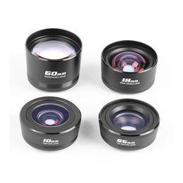 $enCountryForm.capitalKeyWord Australia - Optical Mobile Phone lens 4 Sets Wide-Angle & Fisheye & Macro Lens Telephoto Lens With Metal Clip For All Smartphone And PDA