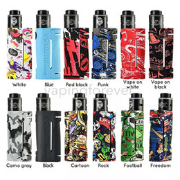 vapor vape Australia - Vapor Storm ECO RDA Starter Kit Fashion Graffiti Vape Mods Max 90W 18650 Box Mod Lion DIY Atomizer 3 Stages Airflow E Cigarette