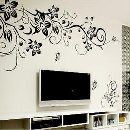 $enCountryForm.capitalKeyWord Australia - Hot DIY Wall Art Decal Decoration Fashion Romantic Flower Wall Sticker  Wall Stickers Home Decor 3D Wallpaper Free Shipping