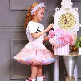Wholesale Tutus Australia - Tutu Skirt 3 Generation Patent New Ab Two Wearing Princess Dress Children Baby Birthday Poncho Skirt