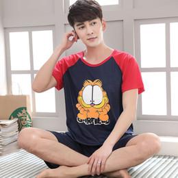 $enCountryForm.capitalKeyWord Australia - Summer Men Pajama Set Cartoon 100% Cotton Sleep Shirt & Shorts Suit Short Pyjamas Plus Size 4XL 5XL Casual Sleepwear Pajamas