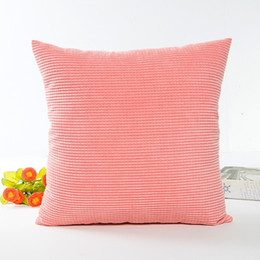 corduroy pillow covers 2021 - AsyPets Simple Solid Color Comfortable Corduroy Decorative Square Throw Pillow Cover without Filling cheap corduroy pill