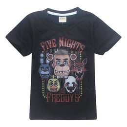 wholesale designers clothes UK - FNAF Kids Tee shirts Five Nights At Freddy 2 Colors 4-12t Boys Cotton T shirts kids designer clothes JSS214
