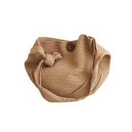 Knitted Ladies Handbags Australia - Fashion Wool Woven Knitted Bag Braided Round Vintage Shoulder Crossbody Hand Bags Beach Travel Handbag Tote Ladies Handbags Bag