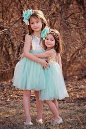 LittLe fLower girL dress purpLe online shopping - Mint Gold Sequin Cap Sleeve Flower Girls Dresses Jewel Neck Lovely Bohemian Country Wedding Party Little Girls Dress