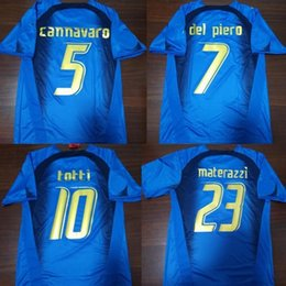 football italy NZ - retro ITALY 2006 MAGLIA CANNAVARO DEL PIERO TOTTI PIRLO maillot de foot soccer jersey football shirt kit camiseta futbol maillot de foot