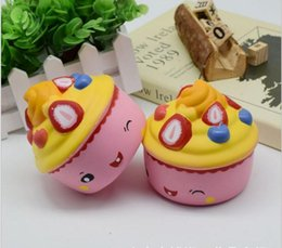 Ice Cream Plants NZ - Lovely doll New Fruit Strawberry Ice Cream Squishy Slow Rising Kawaii Pendant Cake Bread Funny Toy Phone Straps Cream Scented Jumbo