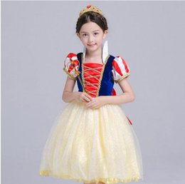 kids carnival clothing Australia - Hot Kids Girl Fairy Cosplay Dress 6+ Halloween Princess Bow Tie Dresses Costume Clothes Party Peform Costume TUTU Dress 3-8T