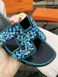 Moccasin Booties For Women Australia - Women's Slippers Elegant Sandals Genuine Leather Brand Quality Sandals For Women Comfortable With Box