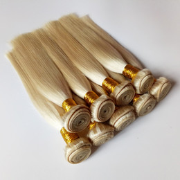 human hair weave 26inch NZ - Brazilian Indian virgin Human Hair Weft Soft and smooth #613 golden Peruvian remy Hair 8-26inch popular Fashion ladies Human Hair weaves