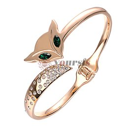 Wholesale Yoursfs Fashion Brand Cute Fox Bracelet Pulseiras K Rose Gold Plated Bangle Use Austrian Crystal Bracelets For Girls Fashion Jewelry