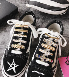 Metal Sneakers NZ - Fashion Multiple Styles Metal Crystal Shoes Decoration Sneakers Best Accessories One Piece Free Shipping