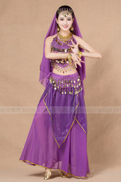Female Indian Costumes Australia - New Indian Dance Costume for autumn and winter performances Belly dance suit for adult female Egyptian high-end performances