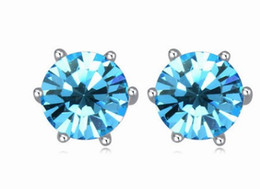 noble low price high quality more color diamond crystal 925 silver lady's earigns 10.38tyert