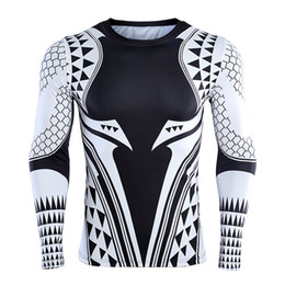 $enCountryForm.capitalKeyWord Australia - Aquaman 3d Printed T Shirts Men Compression Shirt 2018 Newest Character Cosplay Costume Long Sleeve Tops For Male Fitness Cloth SH190703