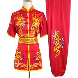 chinese wushu suits Australia - Chinese wushu uniform Kungfu clothing Martial arts suit Routine clothes embroidered Knife Costumes for men girl boy women kids adults