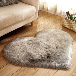$enCountryForm.capitalKeyWord NZ - Fluffy Rugs Anti-Skid Shaggy Area Rug Solid Color Heart Shape Home Living Room Bedroom Floor Mat Carpet Soft Faux Fur Floor Mat