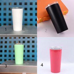 $enCountryForm.capitalKeyWord Australia - 16OZ skinny tumblers stainless steel water bottle drinkware with transparent lid Vacuum cup for travel Hydration Gear mug