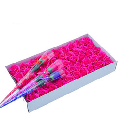 $enCountryForm.capitalKeyWord Australia - New 500pcs Creative Gradient simulation rose Soap flower With Base natural plant essence fragrance glycerol germicide Soap Valentine