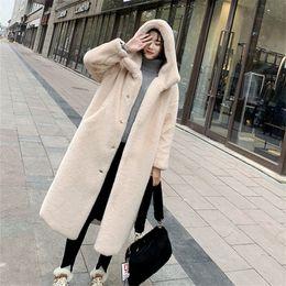Wholesale plus size mink fur coats for sale - Group buy New Autumn Winter Fur Coat Women Clothes High Quality Imitation Mink Fur Hooded Plus Size Thicken Warm Long Coats Female CJ191214