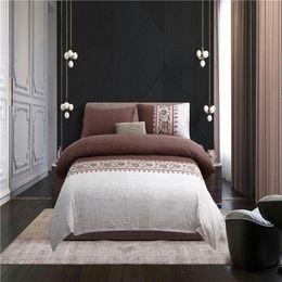elegant twin bedding sets 2019 - Elegant Brown 3D Bedding Sets Printed Duvet Cover Set 3pcs Set Queen King Twin Size cheap elegant twin bedding sets