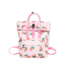 Japanese Harajuku Style Backpack Lolita Girl Cute Cartoon Backpack Rucksack  Kawaii Strawberry Fish Leisure School Bag 15d8659cc76b