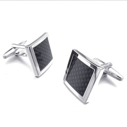 $enCountryForm.capitalKeyWord Australia - High Quality French Style Black carbon fiber Cufflinks For Mens Shirt Brand suit Cuff Buttons Top sale Cuff Links Jewelry