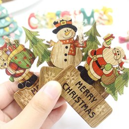 gift craft christmas Australia - 3PCS DIY Wooden Crafts Pendants Ornament New Year Craft Party Decorations Kids Gift For Merry Christmas Xmas Tree