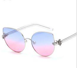 $enCountryForm.capitalKeyWord Australia - Fashion New High Definition Color Ocean Movie Cat Eye Sunglasses Pearl Nose Holder