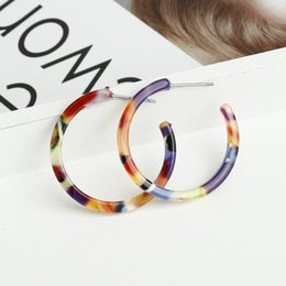 $enCountryForm.capitalKeyWord Australia - LUSION Korean Plate Acetate circle Hoop Earring for women Bohemia Creative statement cute earring fashion jewelry 2019 new