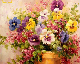 Pink Decorative Paintings Australia - 40x50cm Home decoration oil painting by numbers decorative painting on wall on canvas Drawing Coloring by numbers flowers color oil paint