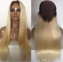 celebrity hairs NZ - Celebrity Wigs Lace Front Wig 10A Ombre Blonde #613 Silky Straight Vietnamese Virgin Human Hair Full Lace Wig for White Woman Free Shipping