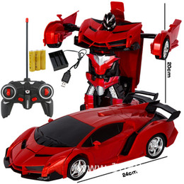 $enCountryForm.capitalKeyWord Australia - Telecontrol Deformation Vehicle One Key Deformation Remote Control Vehicle Robot Telecontrol Police Toy car