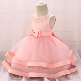 $enCountryForm.capitalKeyWord Australia - Top Grade Lace Baby Girl Dress Baptism Dresses For Girls 1st Year Birthday Party Wedding Christening Baby Infant Clothing Bebes MX190719