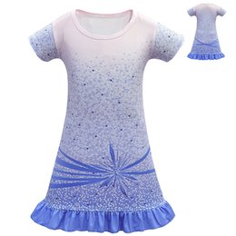 Princess Party dresses for babies online shopping - Snow Queen Baby Girls Princess Dress for Kids Party Cosplay Costume Kids Short Sleeve Ruffle Skirt Sundress Dressed Children Cothing M1236