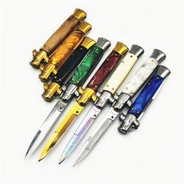 Großhandel 9-Zoll-italienische Mafia automatische Klappmesser Outdoor-Camping-EDC Werkzeug Messer
